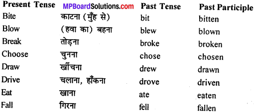 MP Board Class 11th General English Grammar Tenses 16