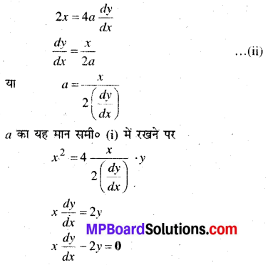 MP Board Class 12th Maths Book Solutions Chapter 9 अवकल समीकरण Ex 9.3 img 6