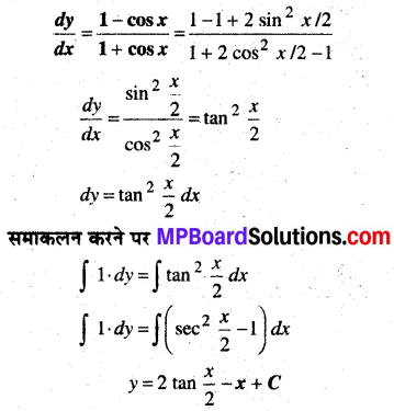 MP Board Class 12th Maths Book Solutions Chapter 9 अवकल समीकरण Ex 9.4 img 1