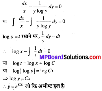 MP Board Class 12th Maths Book Solutions Chapter 9 अवकल समीकरण Ex 9.4 img 7