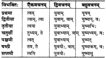 MP Board Class 6th Sanskrit व्याकरण-खण्डः 18