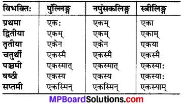 MP Board Class 6th Sanskrit व्याकरण-खण्डः 19