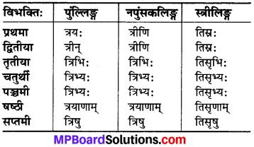 MP Board Class 6th Sanskrit व्याकरण-खण्डः 21