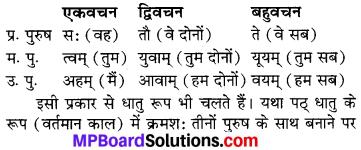 MP Board Class 6th Sanskrit व्याकरण-खण्डः 30