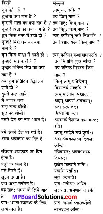 MP Board Class 6th Sanskrit व्याकरण-खण्डः 35