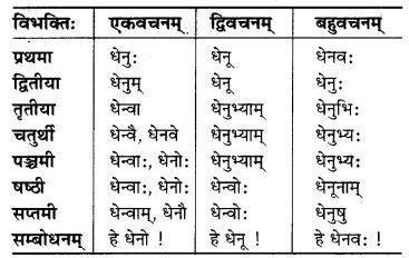 MP Board Class 6th Sanskrit व्याकरण-खण्डः 7