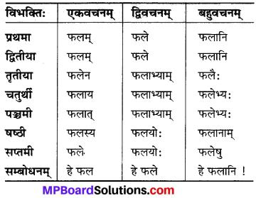 MP Board Class 6th Sanskrit व्याकरण-खण्डः 8