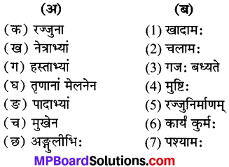 Mp Board Class 6 Sanskrit Chapter 7