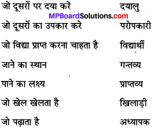 MP Board Class 6th Special Hindi व्याकरण 10
