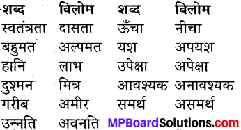 MP Board Class 7th Hindi Sugam Bharti विविध प्रश्नावली 1 1