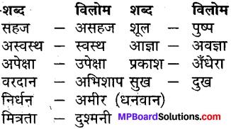 MP Board Class 7th Hindi Sugam Bharti विविध प्रश्नावली 3 2