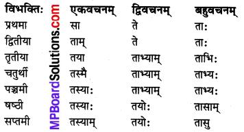 MP Board Class 8th Sanskrit व्याकरण-खण्डः 24