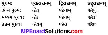 MP Board Class 8th Sanskrit व्याकरण-खण्डः 36