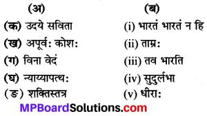Class 8 Sanskrit Chapter 11 Translation In Hindi MP Board