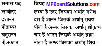 MP Board Class 8th Special Hindi व्याकरण 10