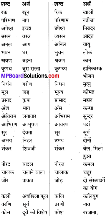 MP Board Class 8th Special Hindi व्याकरण 13
