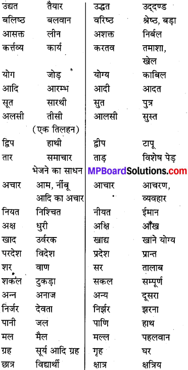 MP Board Class 8th Special Hindi व्याकरण 15