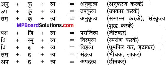 MP Board Class 9th Sanskrit व्याकरण कृदन्त, तद्धित और स्त्री प्रत्यय img-5