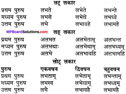 MP Board Class 9th Sanskrit व्याकरण धातु और क्रिया img-24