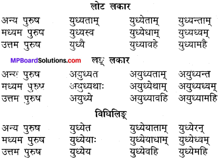 MP Board Class 9th Sanskrit व्याकरण धातु और क्रिया img-28