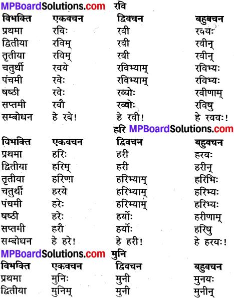 MP Board Class 9th Sanskrit व्याकरण शब्द रूप img-3