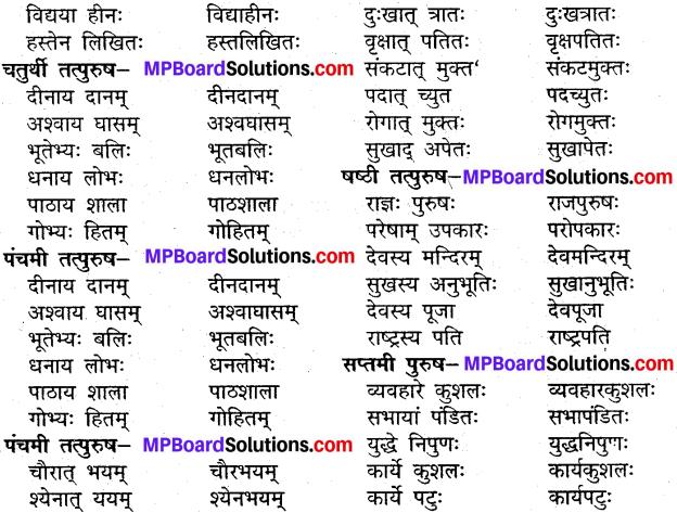 MP Board Class 9th Sanskrit व्याकरण समास प्रकरण img-2