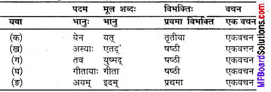 संस्कृत कक्षा 9 पाठ 1 Question Answer MP Board