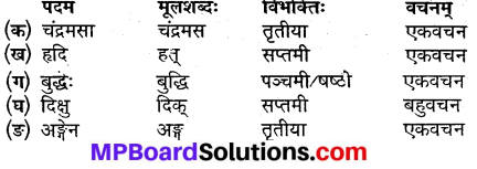 संस्कृत कक्षा 9 पाठ 3 Question Answer MP Board