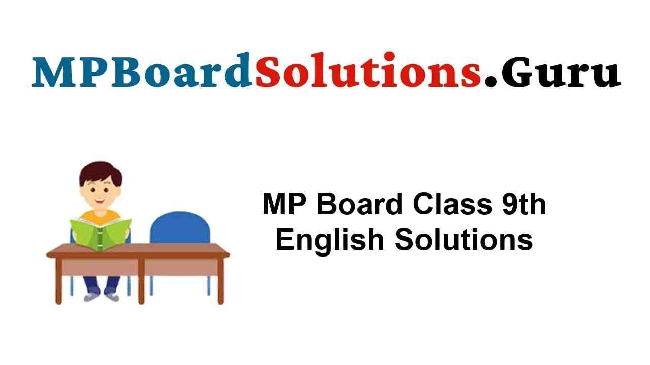 MP Board Class 9th English