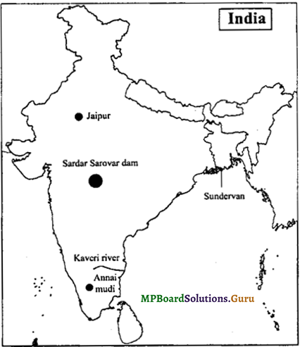 MP Board Class 9th Social Science Important Questions Chapter 8 Map Reading and Numbering 4