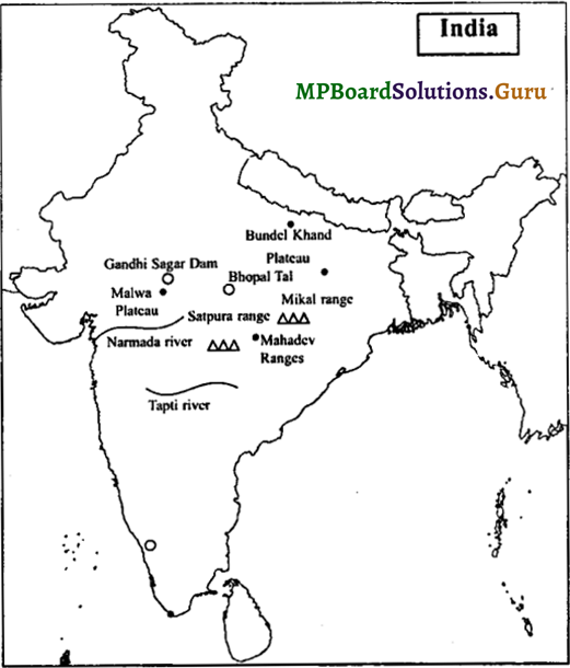 MP Board Class 9th Social Science Important Questions Chapter 8 Map Reading and Numbering 6