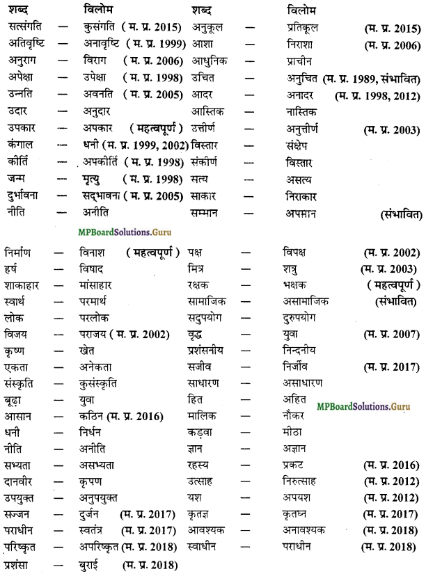 MP Board Class 12th General Hindi व्याकरण Important Questions img 12