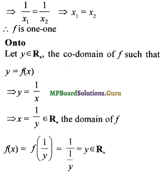 MP Board Class 12th Maths Solutions Chapter 1 Relations and Functions Ex 1.2 1