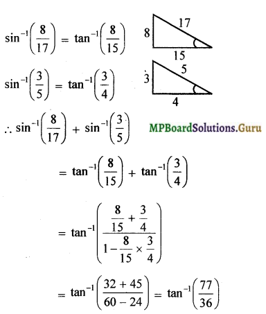 MP Board Class 12th Maths Solutions Chapter 2 Inverse Trigonometric Functions Miscellaneous Exercise 4