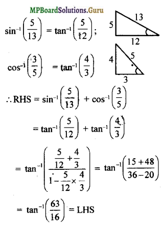 MP Board Class 12th Maths Solutions Chapter 2 Inverse Trigonometric Functions Miscellaneous Exercise 7