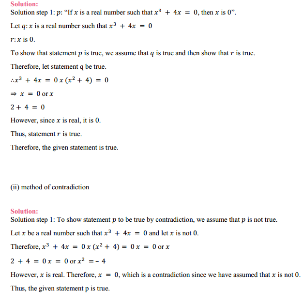 MP Board Class 11th Maths Solutions Chapter 14 Mathematical Reasoning Ex 14.5 2