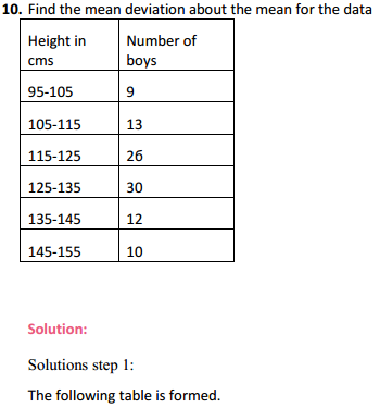 MP Board Class 11th Maths Solutions Chapter 15 Statistics Ex 15.1 12