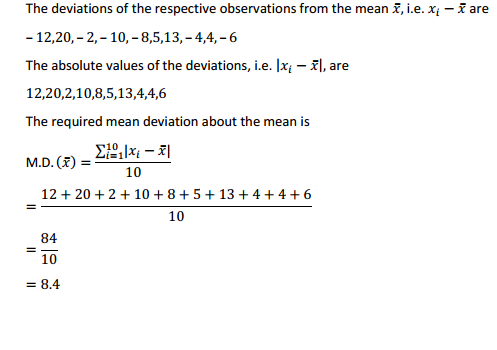 MP Board Class 11th Maths Solutions Chapter 15 Statistics Ex 15.1 2