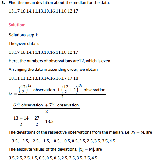 MP Board Class 11th Maths Solutions Chapter 15 Statistics Ex 15.1 3