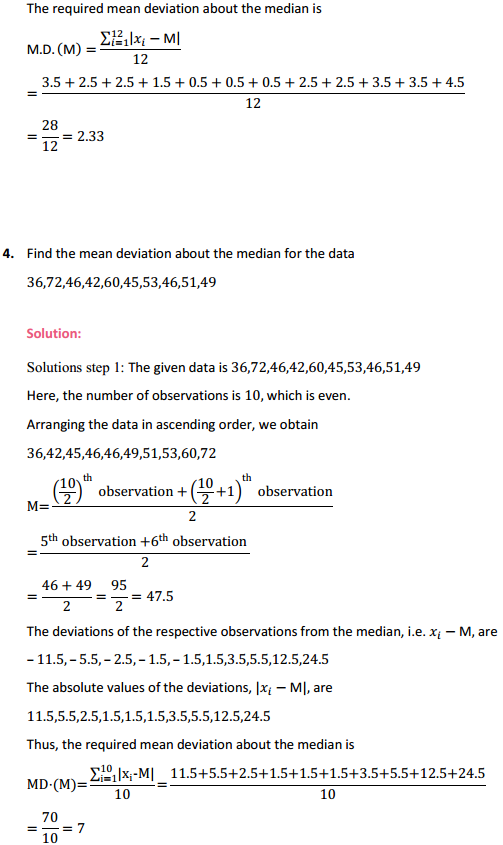 MP Board Class 11th Maths Solutions Chapter 15 Statistics Ex 15.1 4