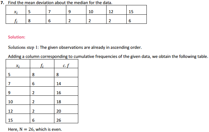 MP Board Class 11th Maths Solutions Chapter 15 Statistics Ex 15.1 7