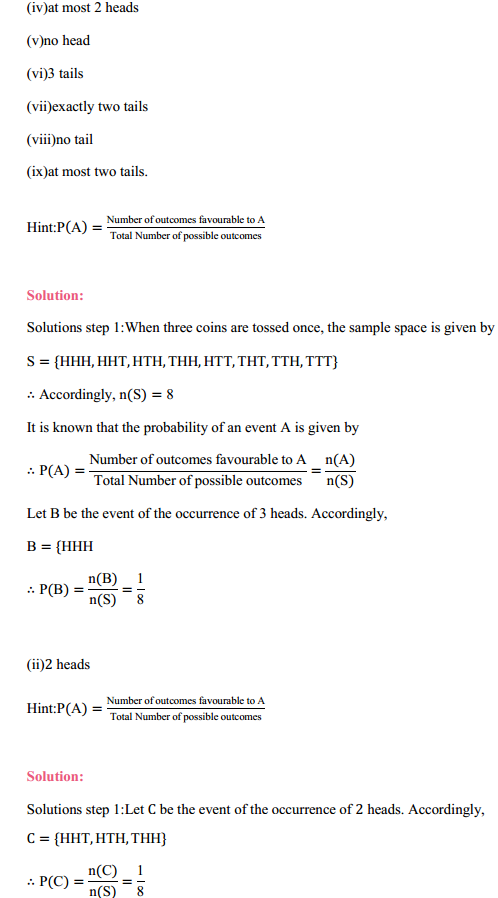 MP Board Class 11th Maths Solutions Chapter 16 Probability Ex 16.3 13