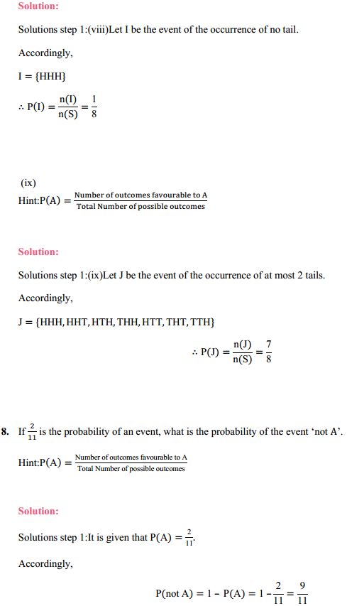 MP Board Class 11th Maths Solutions Chapter 16 Probability Ex 16.3 16