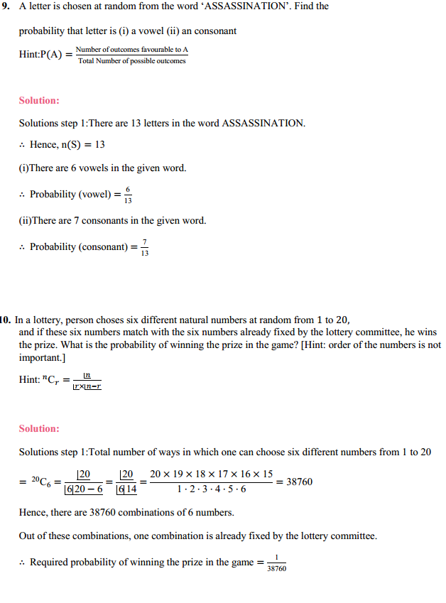 MP Board Class 11th Maths Solutions Chapter 16 Probability Ex 16.3 17