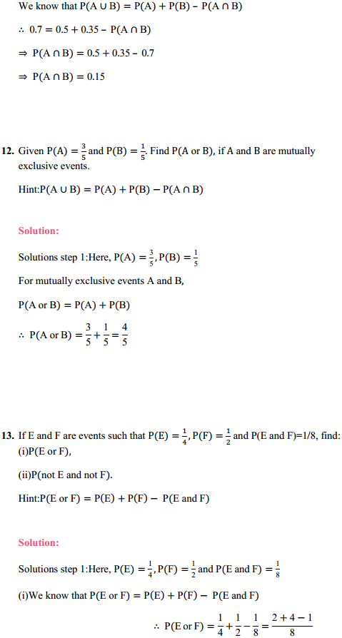 MP Board Class 11th Maths Solutions Chapter 16 Probability Ex 16.3 22
