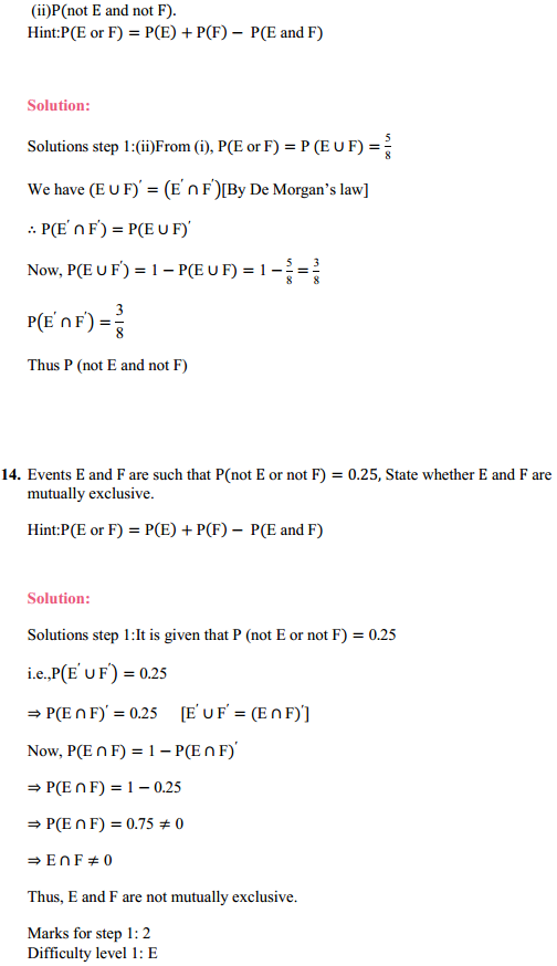 MP Board Class 11th Maths Solutions Chapter 16 Probability Ex 16.3 23