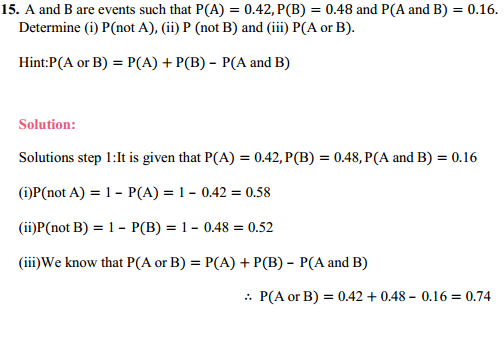 MP Board Class 11th Maths Solutions Chapter 16 Probability Ex 16.3 24