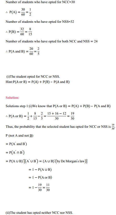 MP Board Class 11th Maths Solutions Chapter 16 Probability Ex 16.3 29