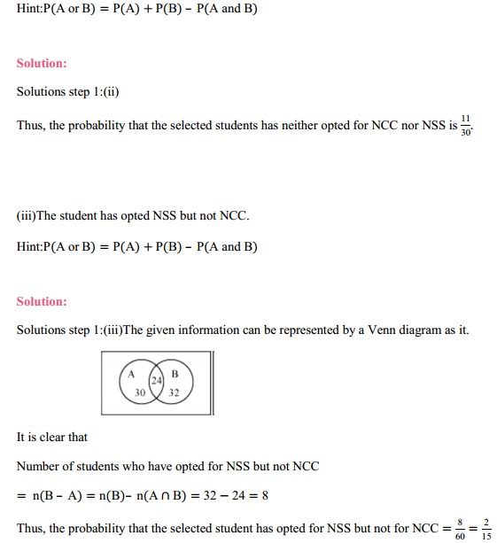 MP Board Class 11th Maths Solutions Chapter 16 Probability Ex 16.3 30