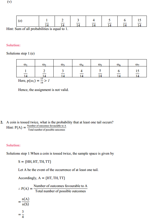MP Board Class 11th Maths Solutions Chapter 16 Probability Ex 16.3 4